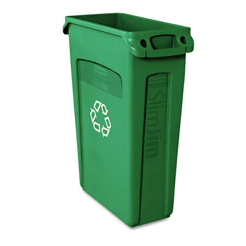 Rubbermaid 23 Gal. Slim Jim Recycling Container (Green) 354007GN New