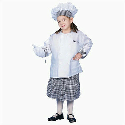 Deluxe Girl Chef Child Costume Dress Up Set Size Toddler - Toddler Chef Costume