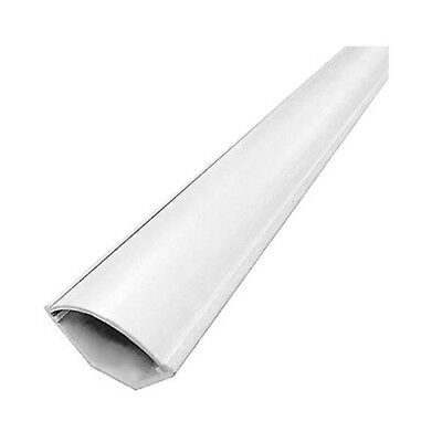 """6ft Triangular Corner Duct Raceway 2-3/16"""" W White Cable Cord Wire Management"""
