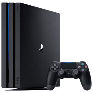 PS4 Pro - Black with 1 TB Hard Drive + 1 Controller