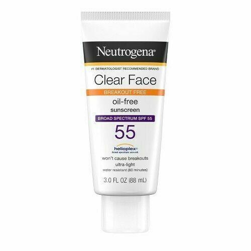 Neutrogena Clear Face Sunscreen SPF 30, 3-Ounce