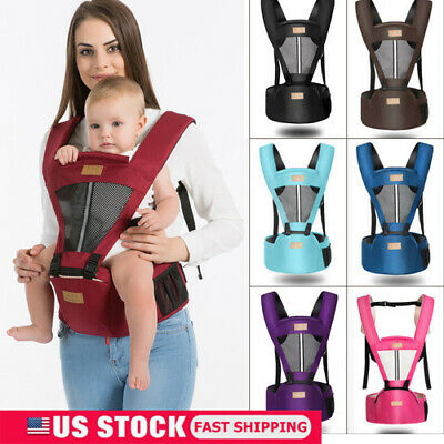 Infant Newborn Baby Wrap - Newborn Baby Infant Carrier Breathable Ergonomic Adjustable Wrap Sling Backpack