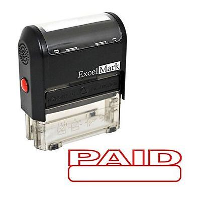 New Excelmark Paid Self Inking Rubber Stamp A1539 Red Ink