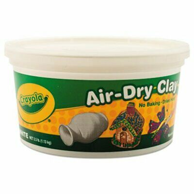 Crayola Nontoxic Air-Dry Clay, White, 2 1/2 lb Bucket