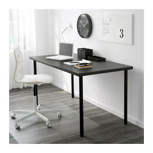 Ikea LINNMON desk top and ADILS table legs black or white
