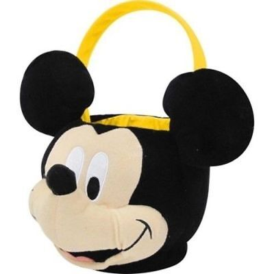 Disney Mickey Mouse Easter Jumbo Plush Basket Pail Halloween Wedding Flower Girl