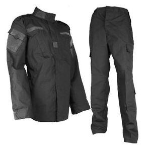Black military uniform