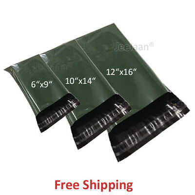 50 MIXED SIZES Dark Green Mailer Bags Postal Mailing Mail Parcel Post Plastic