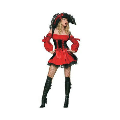 Sexy Vixen Pirate Wench Adult Halloween Costume SMALL - Vixen Pirate Halloween Costume