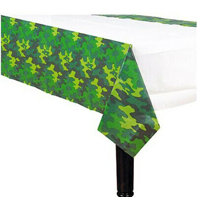 Camouflage Table Cover Plastic (MILITARY CAMOUFLAGE PLASTIC TABLE COVER ~ Birthday Party Supplies)