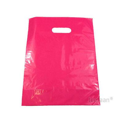100 Dark Pink Plastic Carrier Bags 10