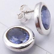 Sterling Silver Gemstone Stud Earrings