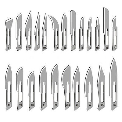 100 Surgical Sterile Scalpel Handle Blades 10 15 Surgical Blades