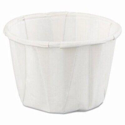 Genpak Squat Paper Portion Cups 1-oz. White 5000 Cups Gnpf100