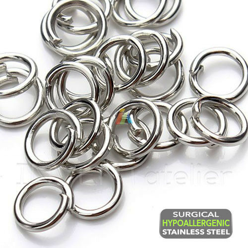 200 Silver Plated 10mm Open Jump Rings Findings for Jewellery Scrapbooking and Art.
