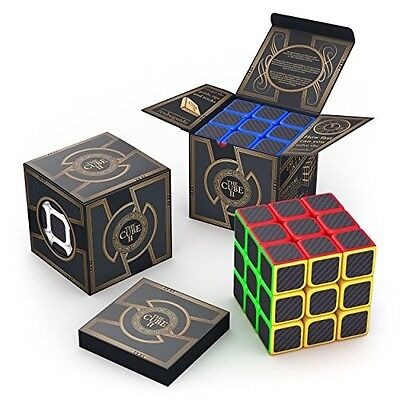 aGreatLife 3x3x3 The Cube Carbon Fiber Sticker Speed Cube: Expand Your Mind