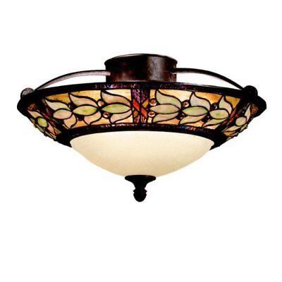 (Kichler Lighting 69045 2Light Art Glass Collection Semi-Flush Ceiling Light)