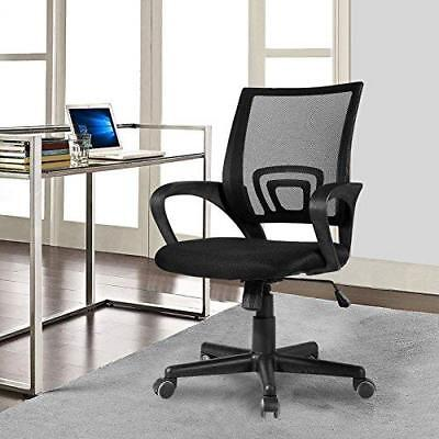 Ergonomic Mid Back Office Chair w/ Adjustable Height Desk Computer Task Chair Back Desk Height Chair