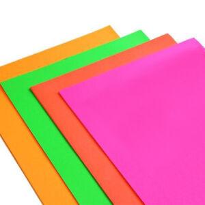 A4 Fluorescent Neon Card Paper 15 Sheets  Craft Scrapbook Flourescent Scarpbook