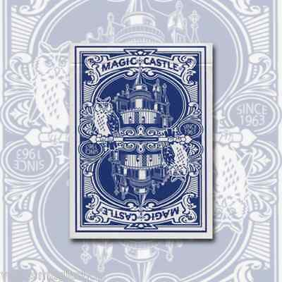 Magic Castle Blue Deck Playing Cards Poker Size USPCC Custom Limited New Sealed