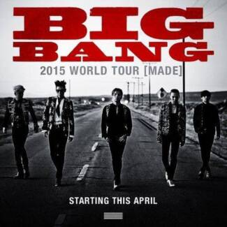 TWO x BIG BANG tickets - SYDNEY 18th - CAT 1 seats Sydney City Inner Sydney Preview