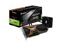 Gigabyte Nvidia AORUS GeForce GTX 1080 Ti Waterforce Xtreme Edition 11G Graphics Card