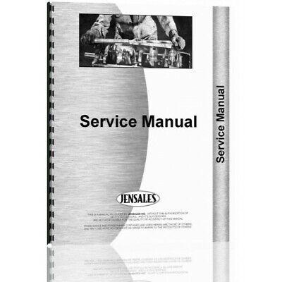 Ford 8000 8600 9000 9600 Tractor Service Manual Fo-s-8000
