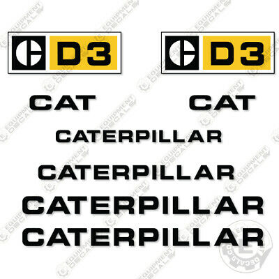 Caterpillar D3 Dozer Decal Kit Equipment Decals 1970s
