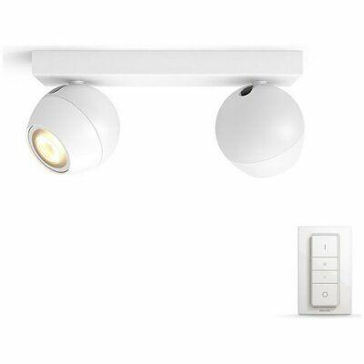 Philips Hue Buckram 5.5W GU10 230V Spotlights - White
