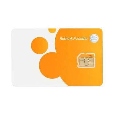 AT&T Micro-SIM Card  (Apple, Samsung, Microsoft, Motorola, Lg, Sony...)