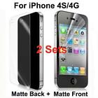 iPhone 4 Screen Protector Anti Glare Front and Back