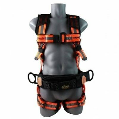 Guardian Fall Protection 21063 Cyclone Construction Harness Blackorange Sew...
