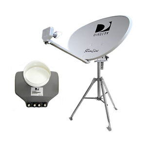 DIRECTV SWM 3 and SWM 5 Dishes with Tripod and Roof Mount
