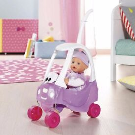 BABY BORN COUPE CAR WITH DOLL BRAND NEW IN BOX