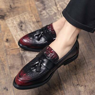Details about  /British Mens Real Patent Leather Business Shoes Oxfords Slip on Nightlcub Work L