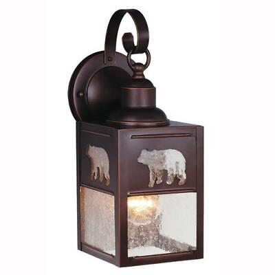 Burnished Bronze Outdoor Wall Light Bear Seeded Glass Transitional Lamp Sconce Burnished Bronze Outdoor Wall