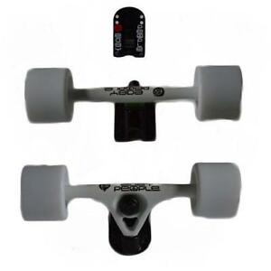 Easy  People Longboards White Truck set Solid wheels,Spacer,Bearing ABEC-7