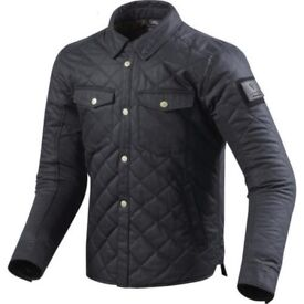 Brand New with Tags REV'IT 'Westport' Motorcycle Overshirt/Jacket (Solid Dark Blue) Size XL