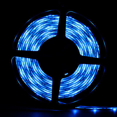 Blue Waterproof 5050 SMD 300LED 5M 60LED/M Light Strip Flexible 12V on Rummage