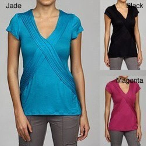 NEW M by M Kalan Women's Pintuck  Stretchy Top Shirt -Black-Small