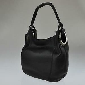 New Oroton Kiera B Hobo Black Leather Ladies Bag Handbag Rrp $495 Bnwt Womens