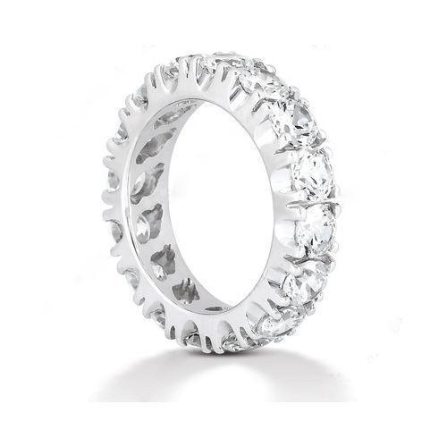 womens diamond eternity wedding bands ebay. Black Bedroom Furniture Sets. Home Design Ideas