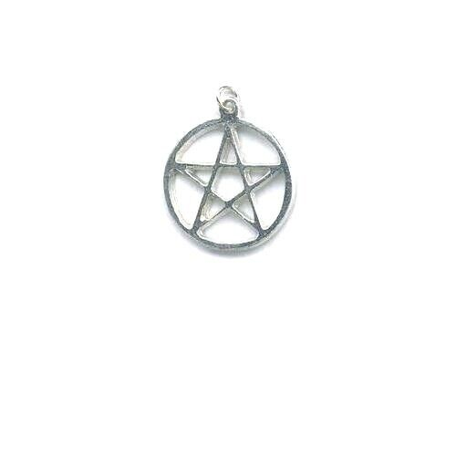 "Pentacle Pendant -  Pewter  ~1 1/8"" diameter   ~Wiccan/Pagan"
