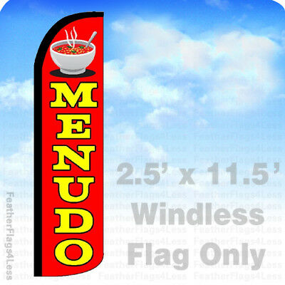 Menudo - Windless Swooper Flag Feather Banner Sign 2.5x11.5 Rz