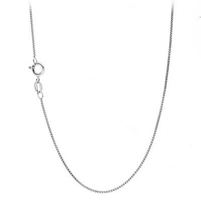 Jewellery - 925 Sterling Silver 1mm Box Chain Necklace for Pendants