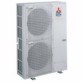 2 x 12.5kw Mitsubishi Electric cassette type split Air Conditioning system