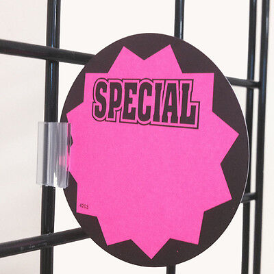 Gridwall Sign Clip for Wire Rack & Fixtures Grid Display Card Holder Grip 25 PCS ()