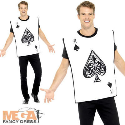 Carded Guard Mens Fancy Dress Fun Ace Of Spades Stag Do Novelty Adults Costume - Ace Of Spades Halloween Costume