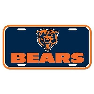 CHICAGO BEARS ~ (1) Official NFL Team Logo Color License Plate ~ New! ()