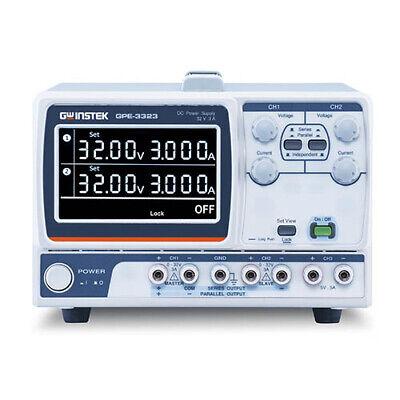 Instek Gpe-3323 Linear Dc Power Supply 3 Ch 0-32 V Dc 0-3 A Dc
